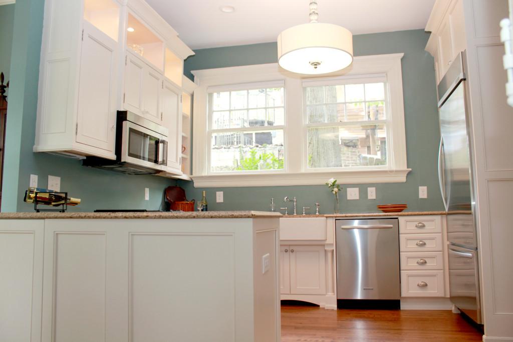 The Blue And White Space Efficient Kitchen Design In Durham CKS Design Studio